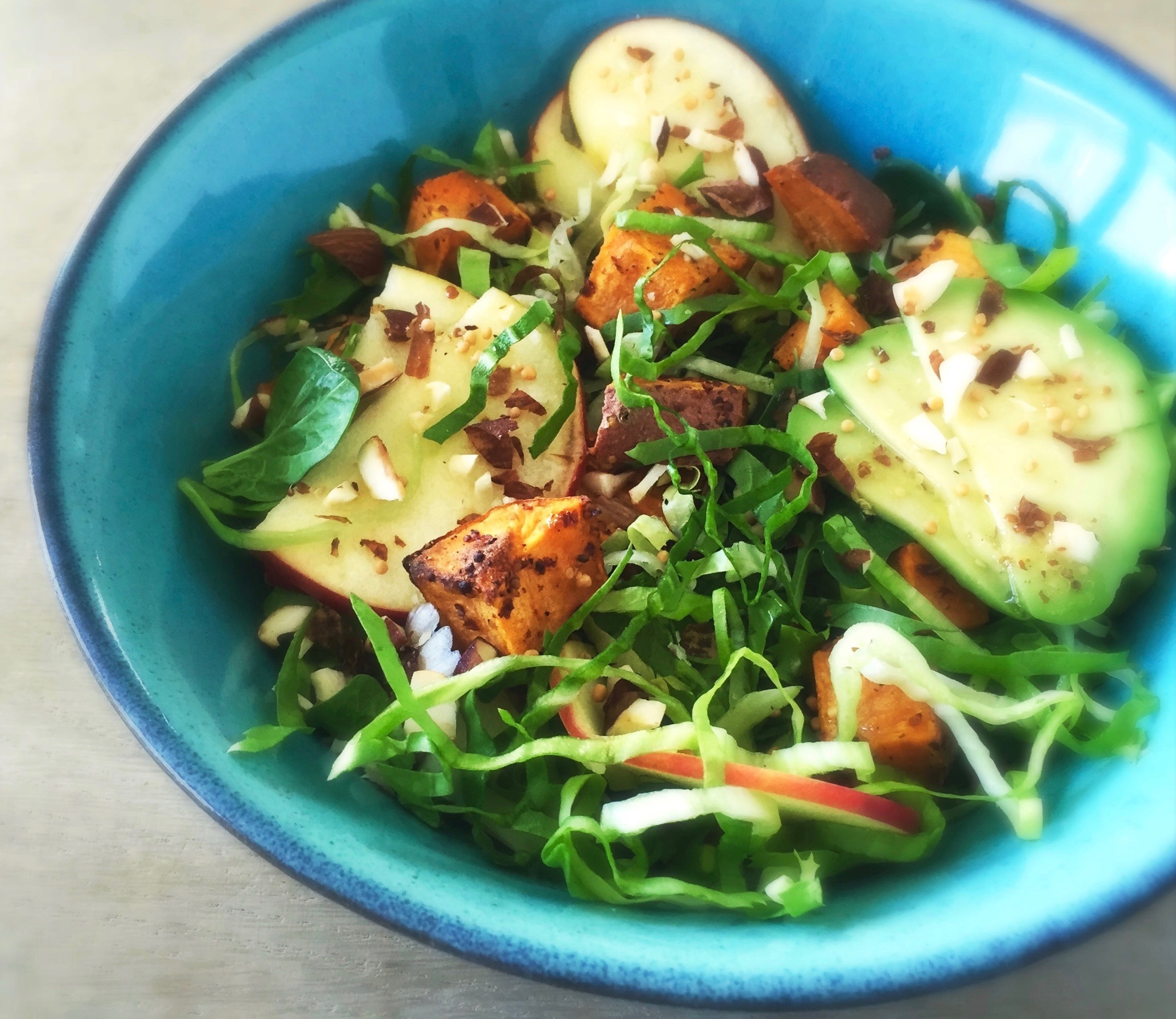 Zoete Aardappelsalade met Mosterddressing