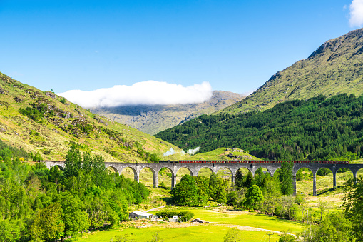 Glenfinnan Viaduct and The Jacobite, Scotland, UK