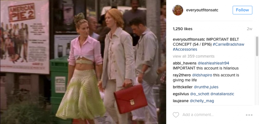 Instagramaccount verzamelt alle Sex and the City-outfits - 1