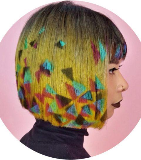 Kapseltrend: graffiti in je haar