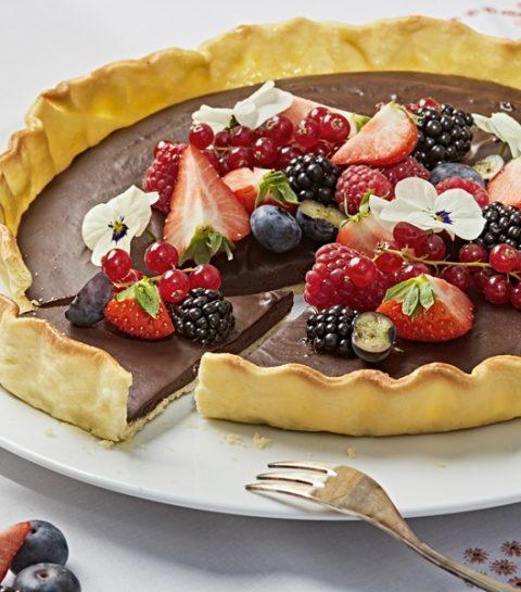 Recept: een onweerstaanbare chocoladetaart met fruit