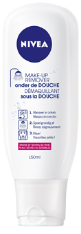 Make-up remover voor onder de douche van Nivea, 4,99 euro