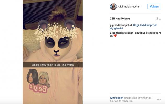 Belgie sweater Bella Gigi Hadid
