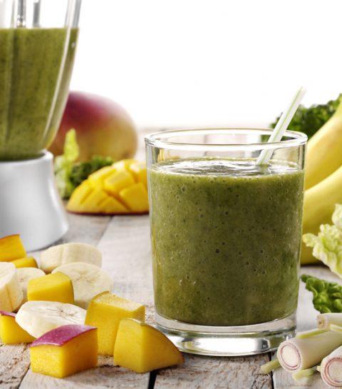 2 X groene smoothies voor luie meisjes