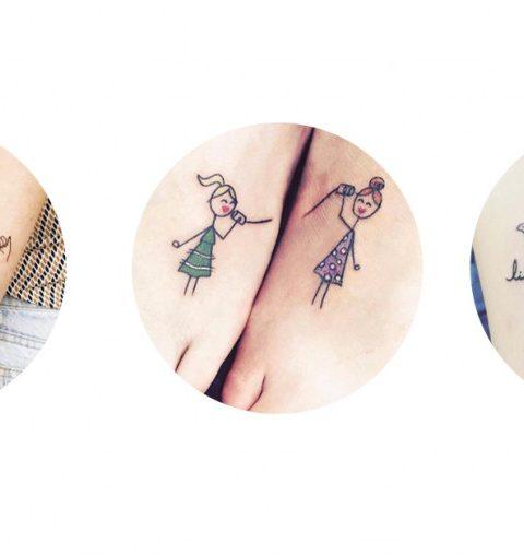 20 originele tatoeages voor zussen