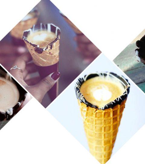 Foodtrend: het koffie hoorntje