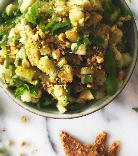 Late-Night Snack: Avocadosalsa met Pistache