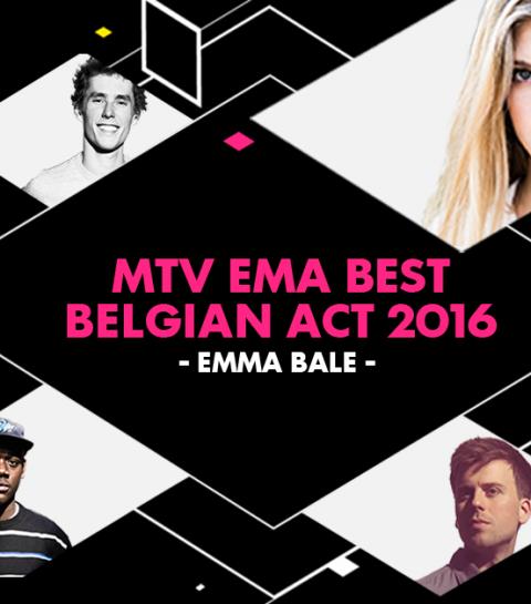 Emma Bale wint de MTV EMA award voor Best Belgian Act 2016!