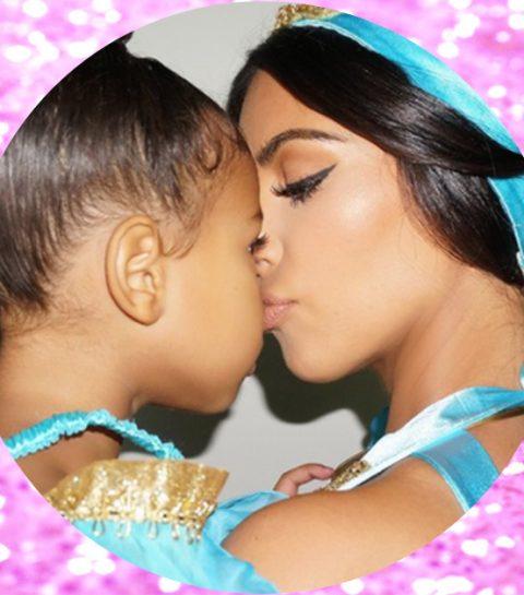 Kim Kardashian duikt op als sexy Prinses Jasmine