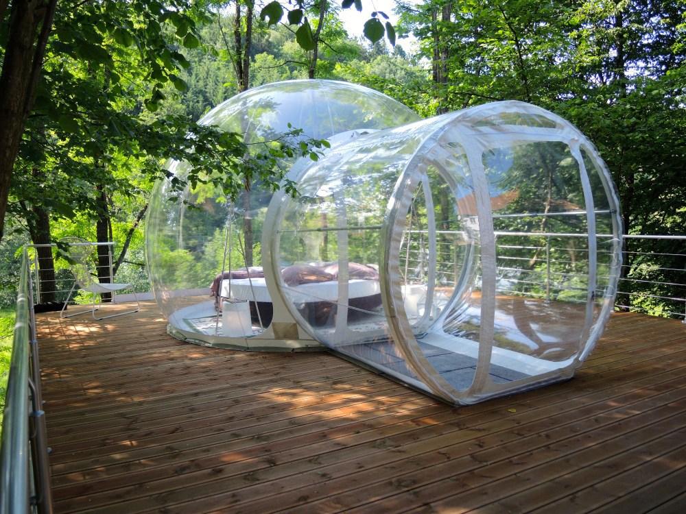 slapen in een bubbel