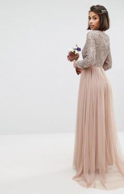 budgetjurken asos bruid trouwkleed