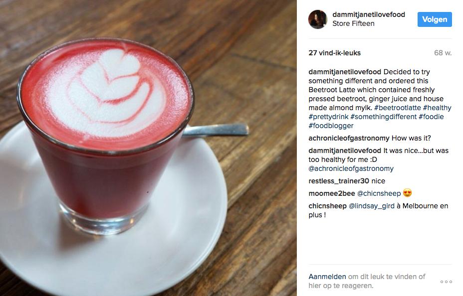 Beetroot Latte recept roze koffie 2
