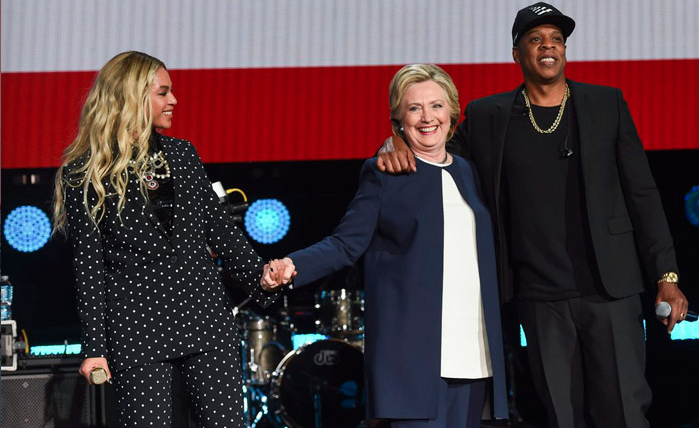 Beyoncé zwanger Hillary Clinton