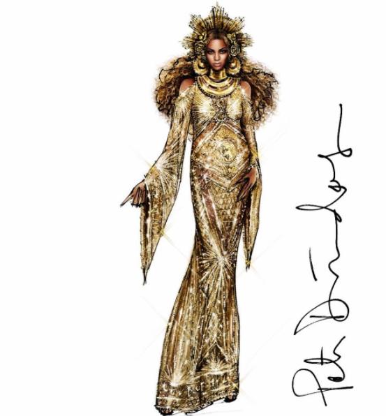 Grammy Awards 2017 Beyoncé Peter DUndas label