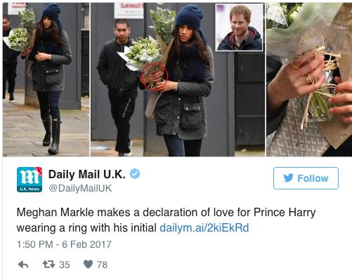 Meghan Markle ring H prince Harry verloving