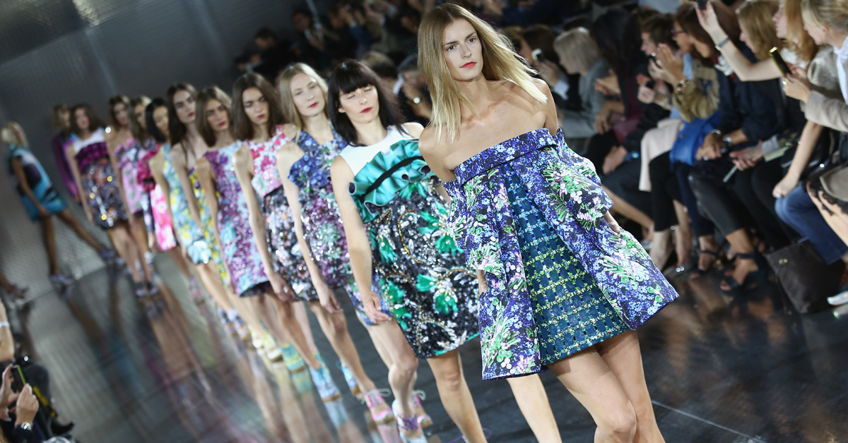 LONDON, ENGLAND - SEPTEMBER 15: Models walk the runway at the Mary Katrantzou show during London Fashion Week SS14 at on September 15, 2013 in London, England. (Photo by Tim P. Whitby/Getty Images)