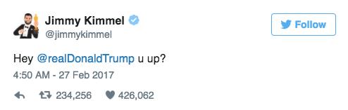 Oscars 2017 Jimmy Kimmel Tweet Trump 5