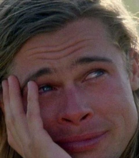 brad pitt crying legends of the fall