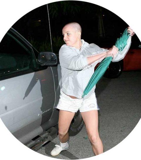 Bizar: de Britney breakdown paraplu wordt geveild
