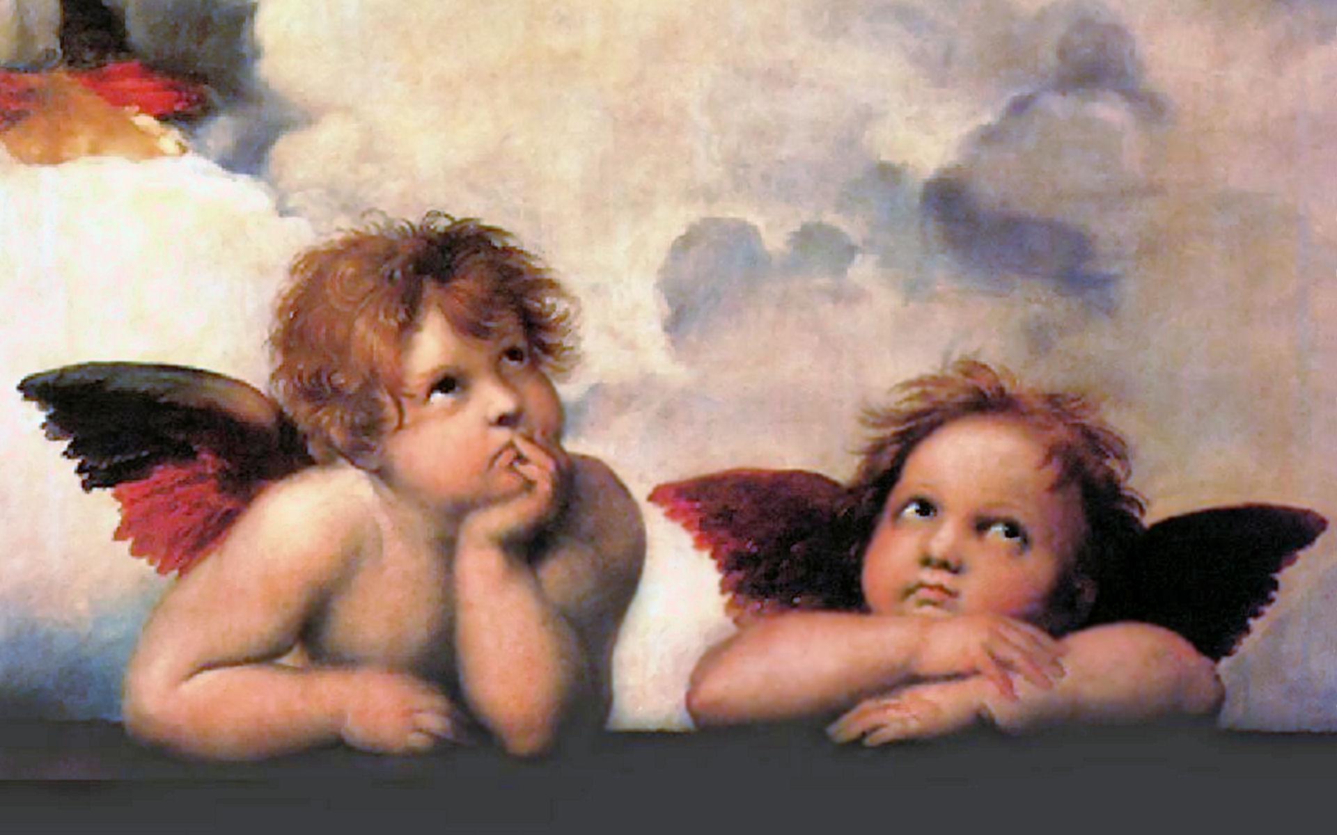 Cherubs, Raphael, painting
