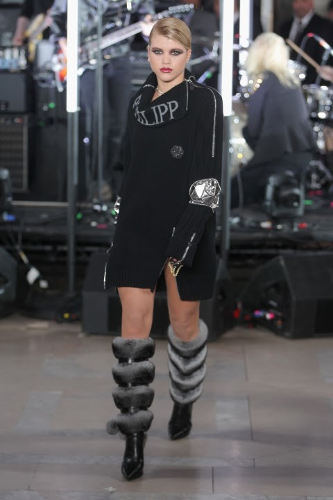 NEW YORK, NY - FEBRUARY 13: Sofia Richie walks the runway wearing look #42 for the Philipp Plein Fall/Winter 2017/2018 Women's And Men's Fashion Show at The New York Public Library on February 13, 2017 in New York City. (Photo by Thomas Concordia/Getty Images for Philipp Plein) *** Local Caption *** Sofia Richie