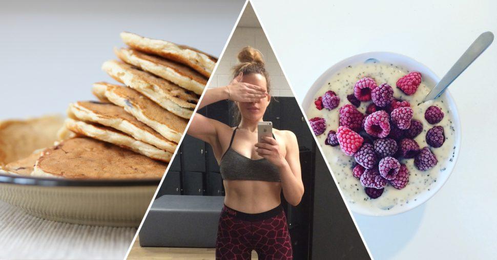 eiwitdieet-dieet-proteïne-proteInedieet-workout-abs-frambozen-chia-oatmealpancakes-havermout