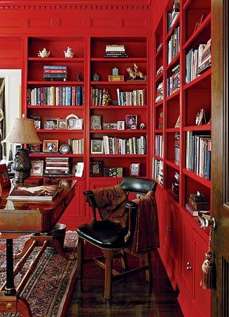 kleur kamer perfect rood studeerkamer