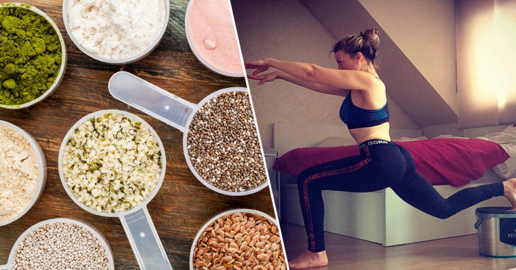 proteinedieet-dieet-proteïne-workout-lunge