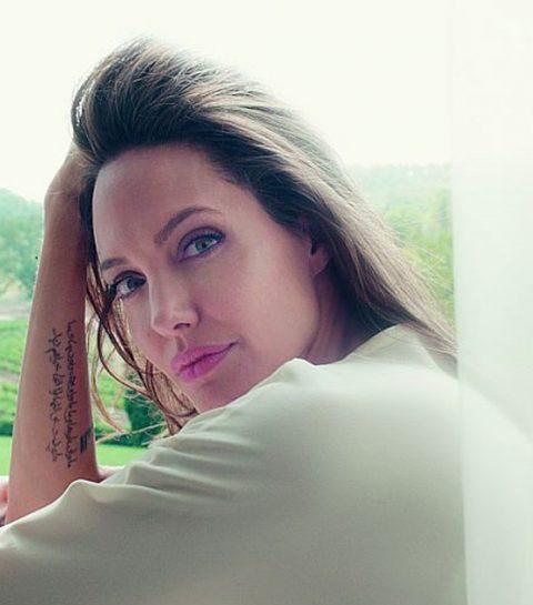 ELLE sprak met de man achter de onzichtbare tatoeage van Angelina Jolie