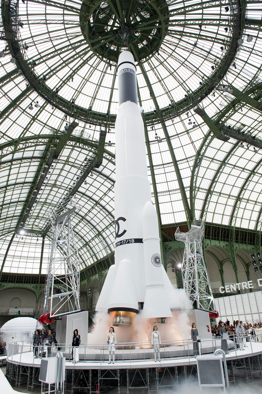 Chanel, Karl Lagerfeld, raket, PFW, modeweek, Parijs