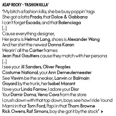 Fashion Killa ASAP Rocky lyrics