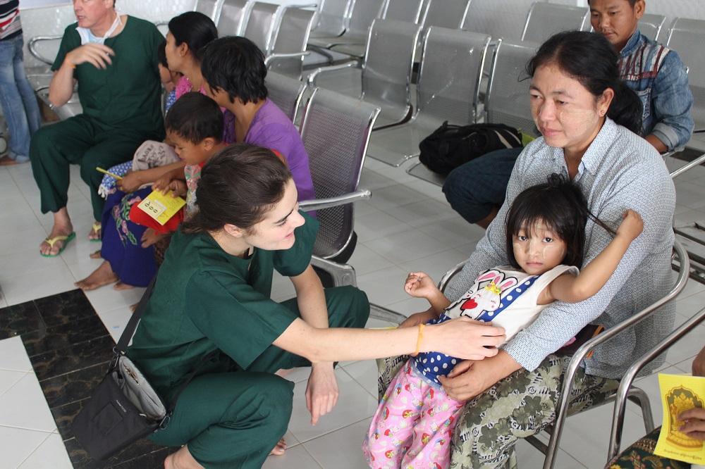 Moeder en patient gerust stellen