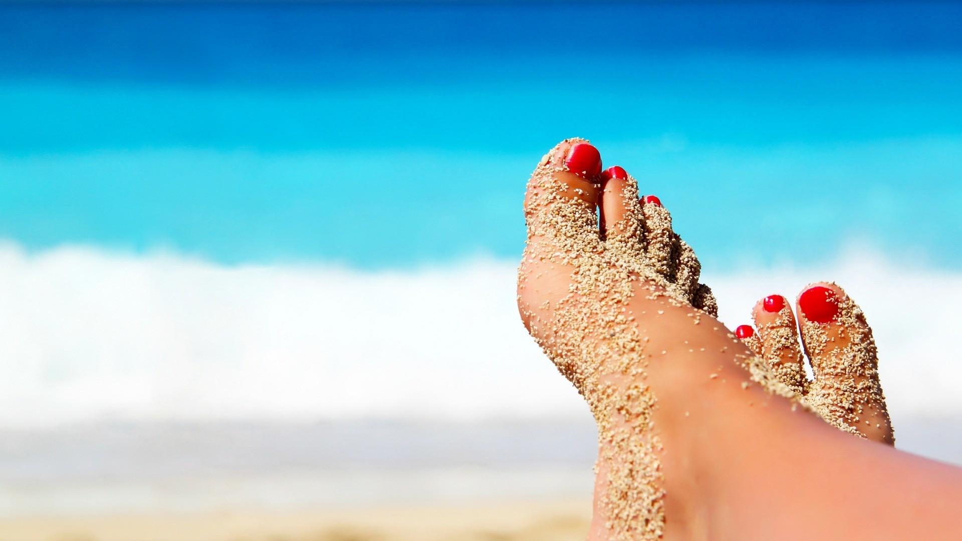 Sandbox workout fitness feet