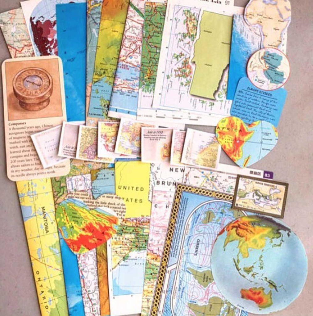 reizen nineties landkaart