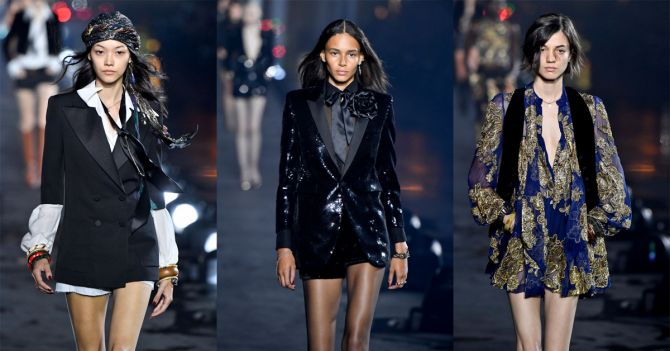 saint laurent show Parijs Fashion week