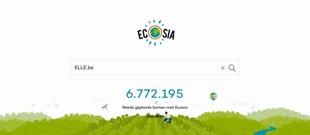 zoekmachine ecosia redt planeet
