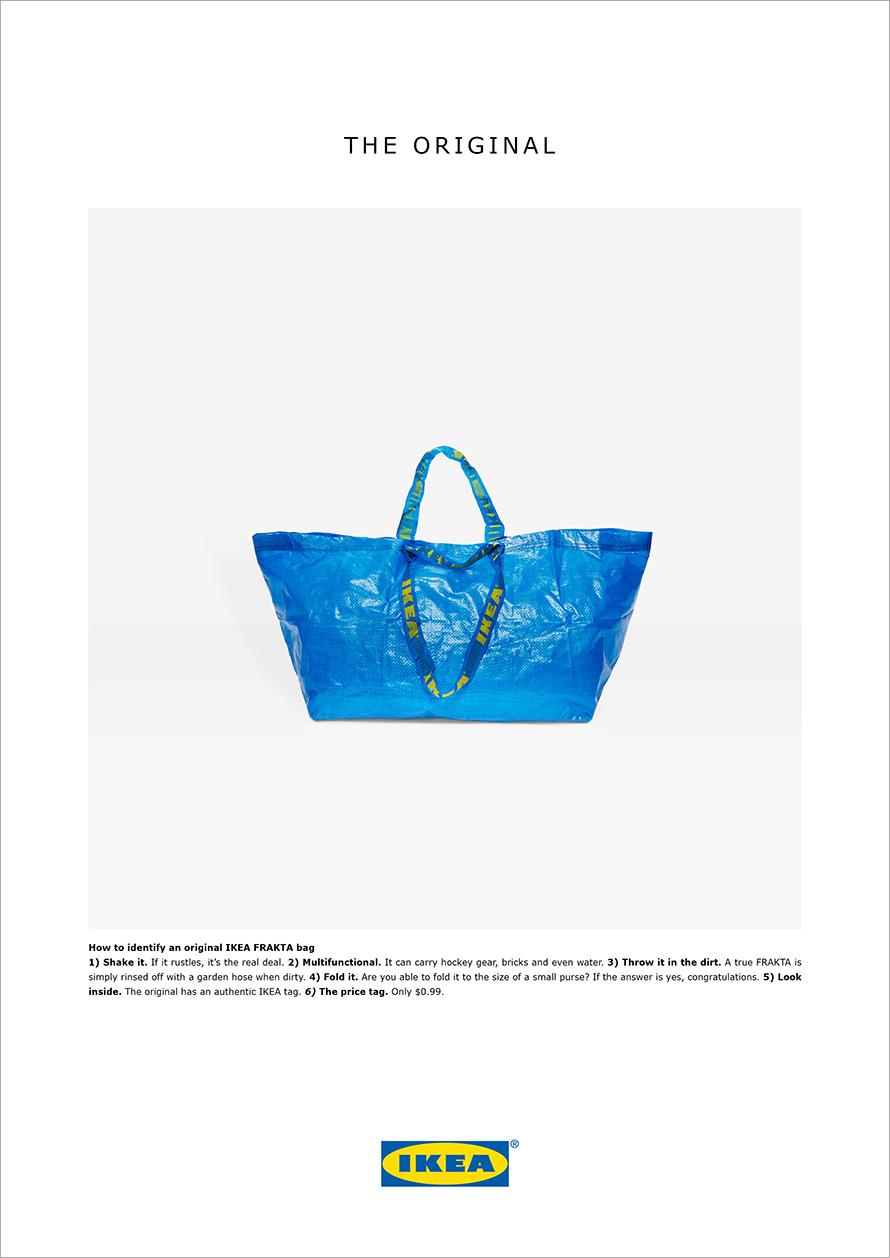 Ikea, Balenciaga, kopie, blauwe tas, Frakta, reactie