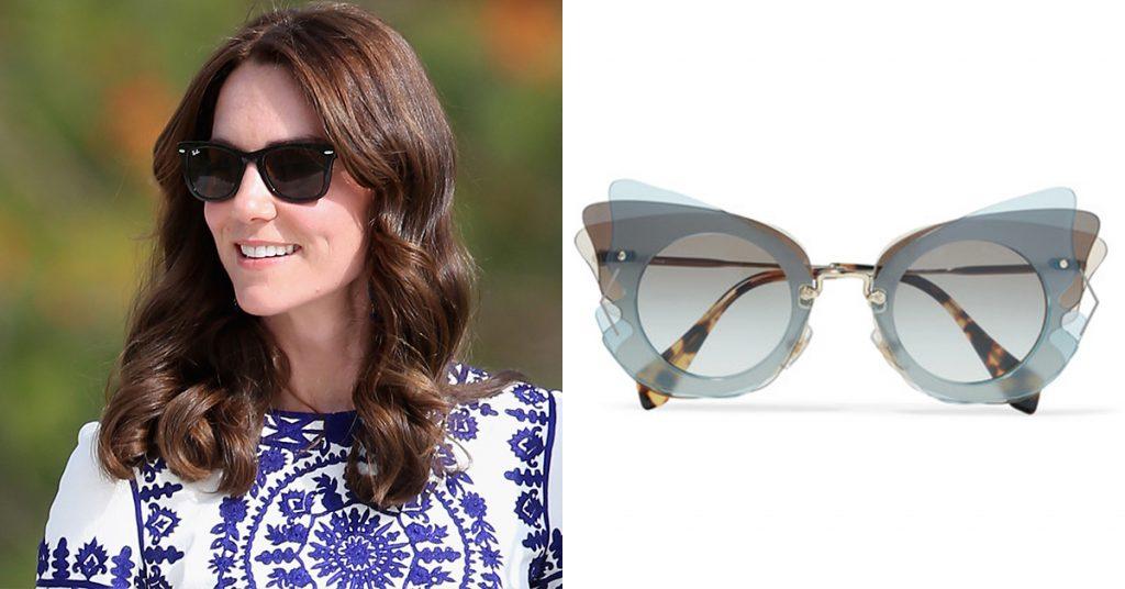 Lenteshopping zonnebrillen voor elke gezichtsvorm ovaal gezicht kate middleton