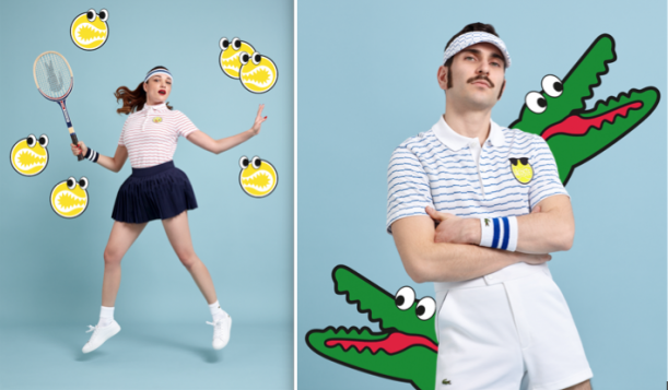 Lacoste, Yazbukey, Rolland-Garros, tennis, samenwerking, tennisbal, emoticon, modecollab