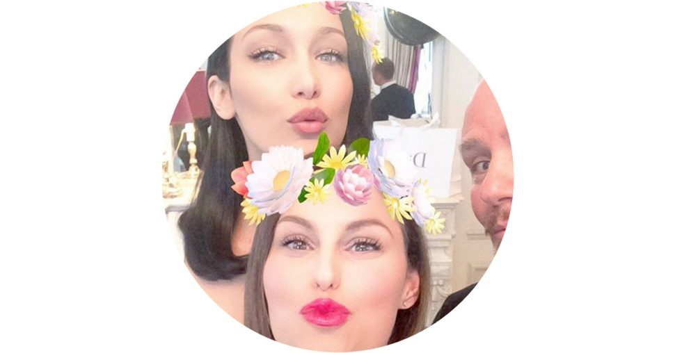 bella hadid peter philips dior mascara