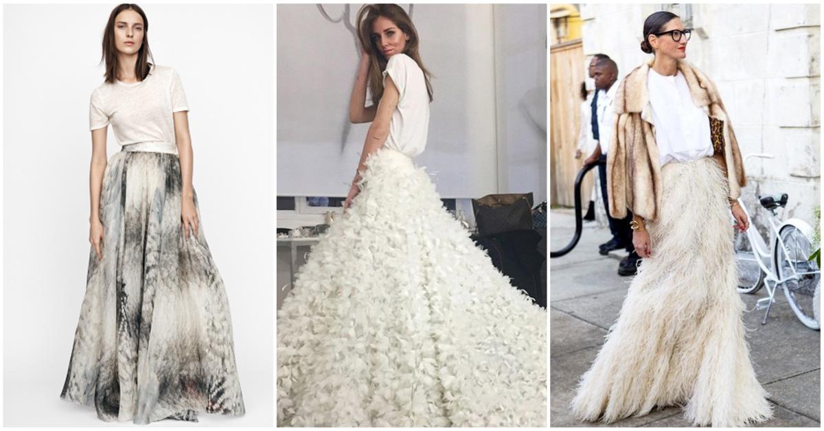 bruidsmeisjes stijlregels statement rok oversized shirt