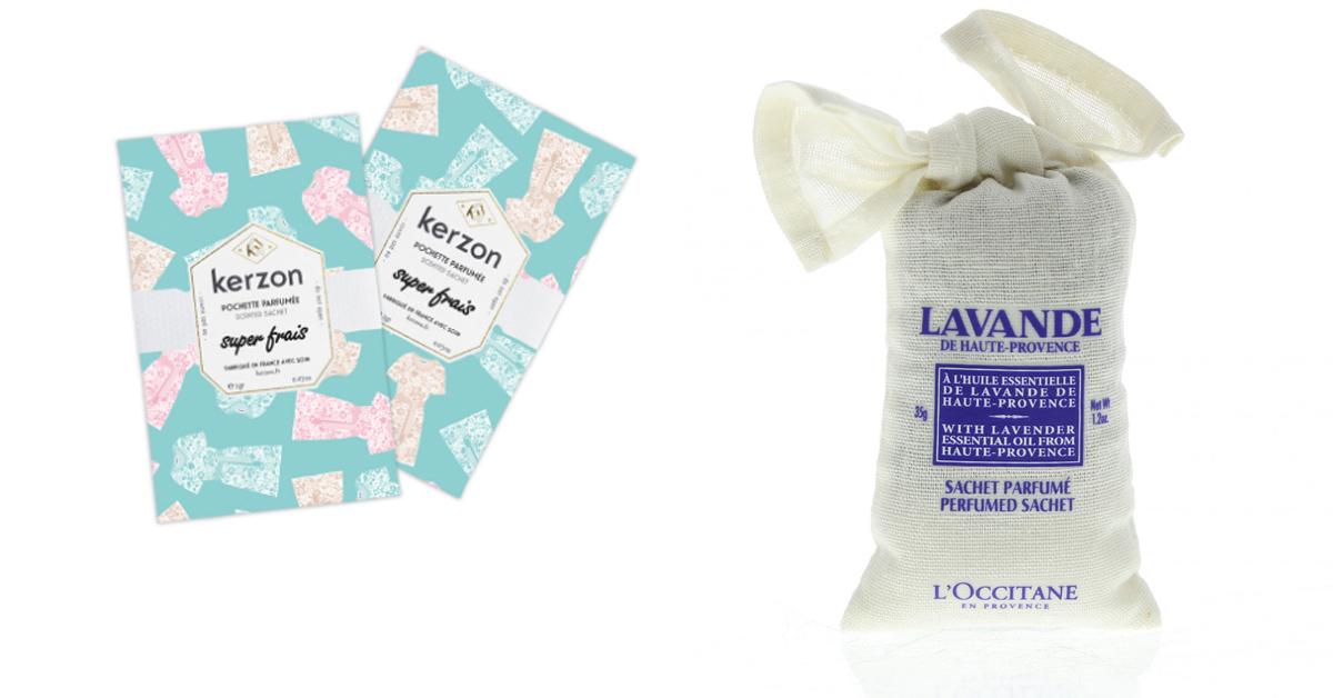 Een alternatief voor vloeipapier zijn geurzakjes, zoals die van Kerzon Paris of L'Occitane