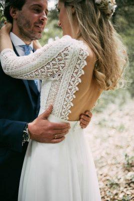 Bruidsjurk trouwjurk rugdecolleté open rug boho pinterest