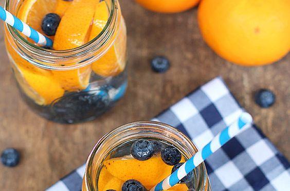 Fruitwater receptjes bosbes sinaasappel cellulitis