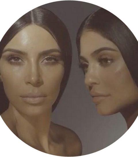 Kim Kardashian en Kylie Jenner naakt (en identiek) in make-upreclame