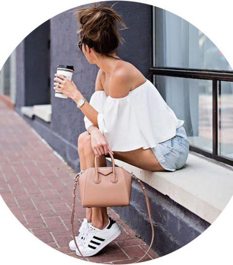 Fashion hack: zo blijft je off-shoulder blouse op z'n plek
