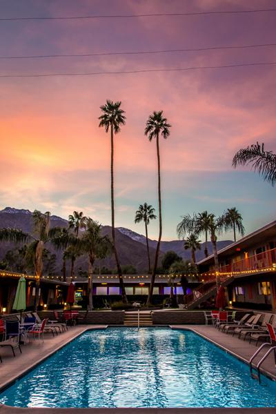 palm springs skylark hotel vakantie coachella