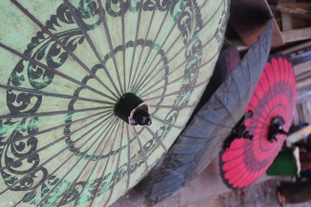 parasols op de Scott market