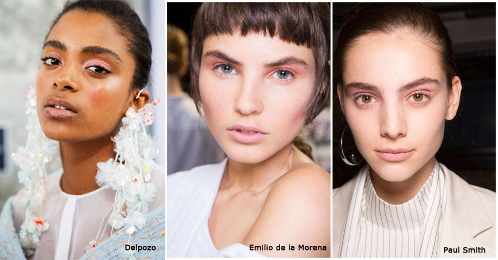 roze make-up fashion week trend soft