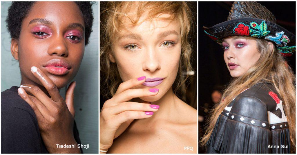 roze make-up trend catwalk 2017